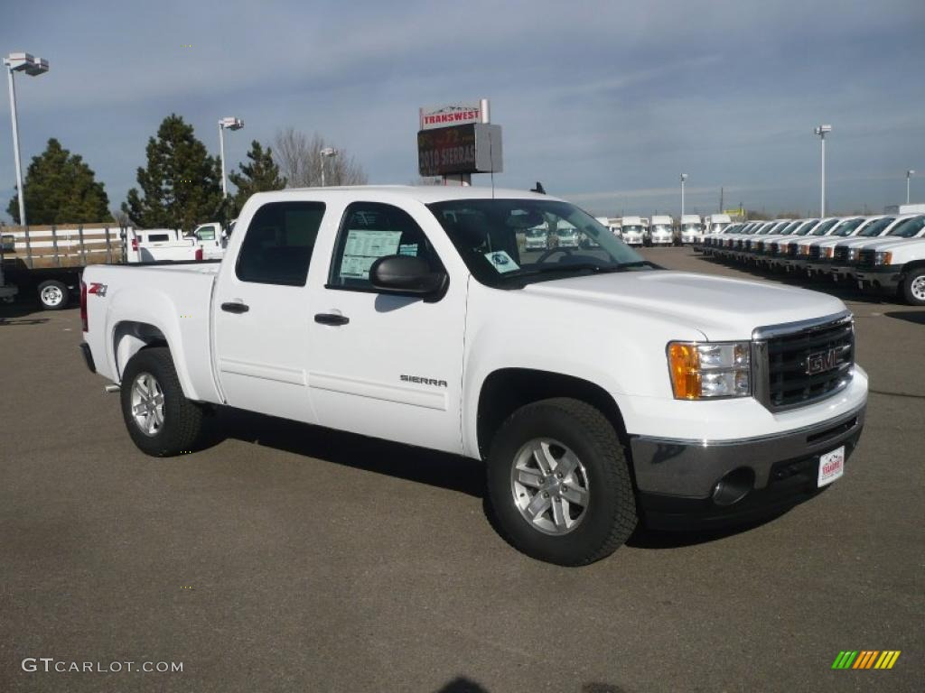 summit white 2011 gmc sierra 1500 sle crew cab 4x4 exterior photo 41489675. Black Bedroom Furniture Sets. Home Design Ideas