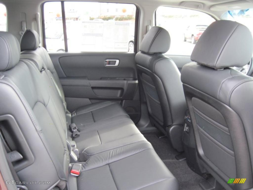 black interior 2011 honda pilot ex l photo 41491455. Black Bedroom Furniture Sets. Home Design Ideas