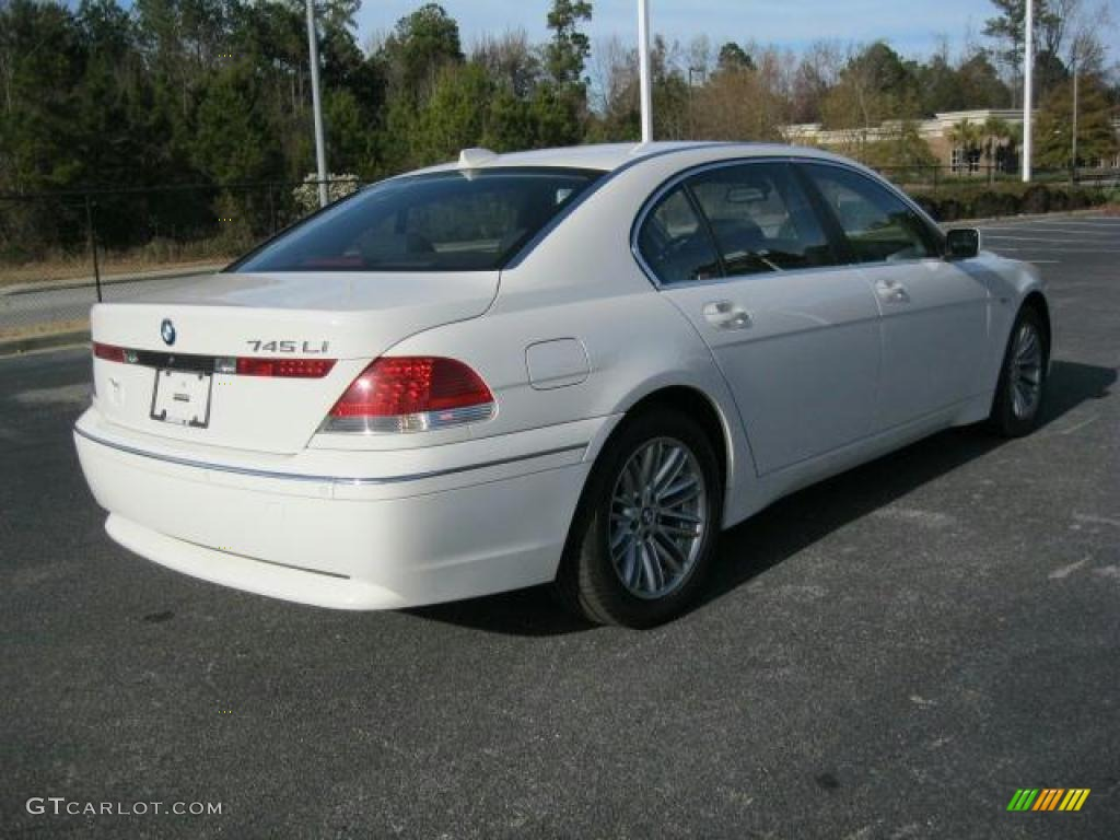 Alpine White 2005 BMW 7 Series 745Li Sedan Exterior Photo 41494071