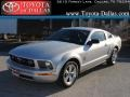 2007 Satin Silver Metallic Ford Mustang V6 Premium Coupe  photo #1