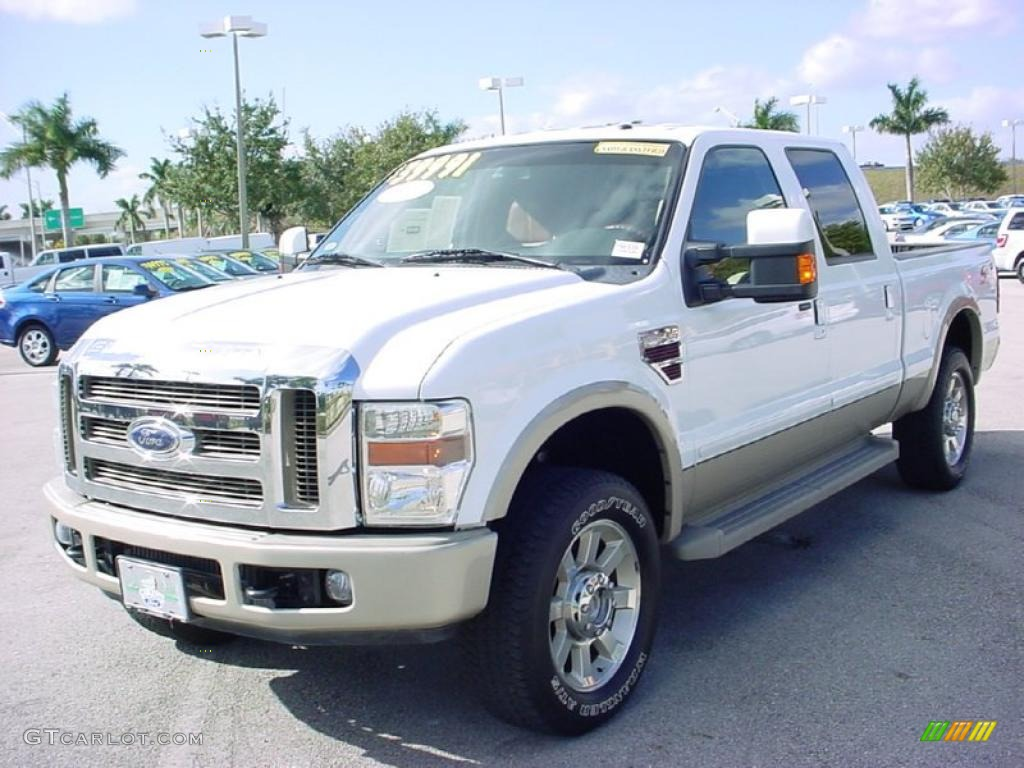 oxford white 2008 ford f250 super duty king ranch crew cab 4x4 exterior photo 41506719. Black Bedroom Furniture Sets. Home Design Ideas