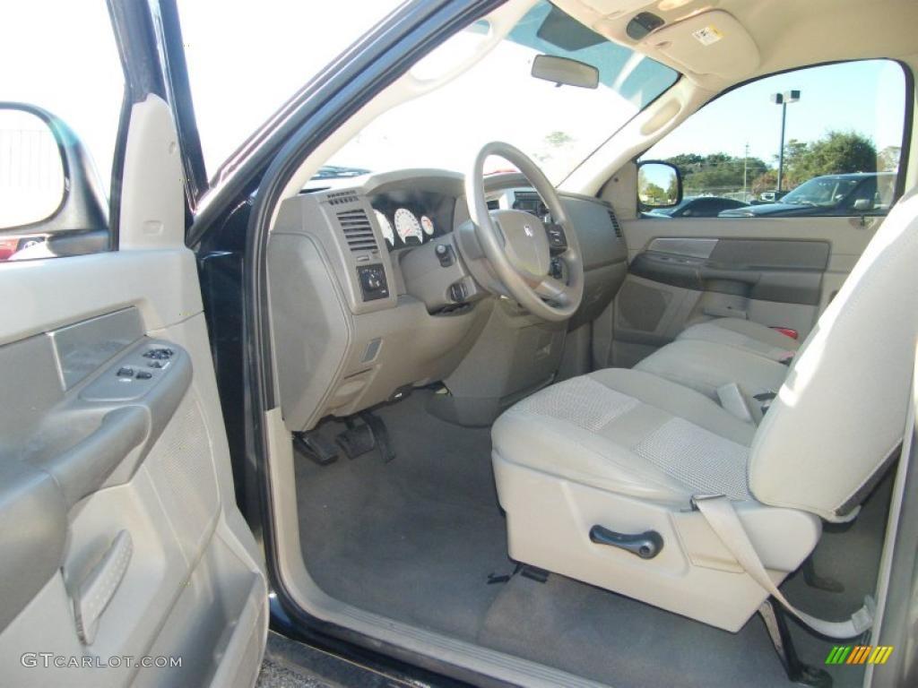 Medium Slate Gray Interior 2007 Dodge Ram 1500 Slt Regular Cab Photo 41510333