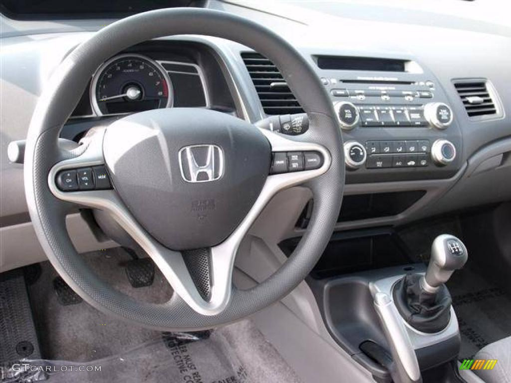 2007 Honda Civic EX Coupe Gray Dashboard Photo #41519857