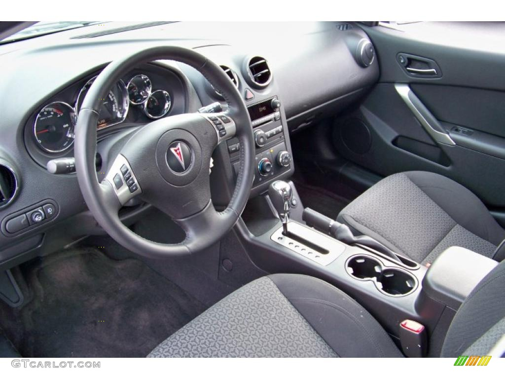 Ebony Interior 2009 Pontiac G6 V6 Sedan Photo 41525905 Gtcarlot Com