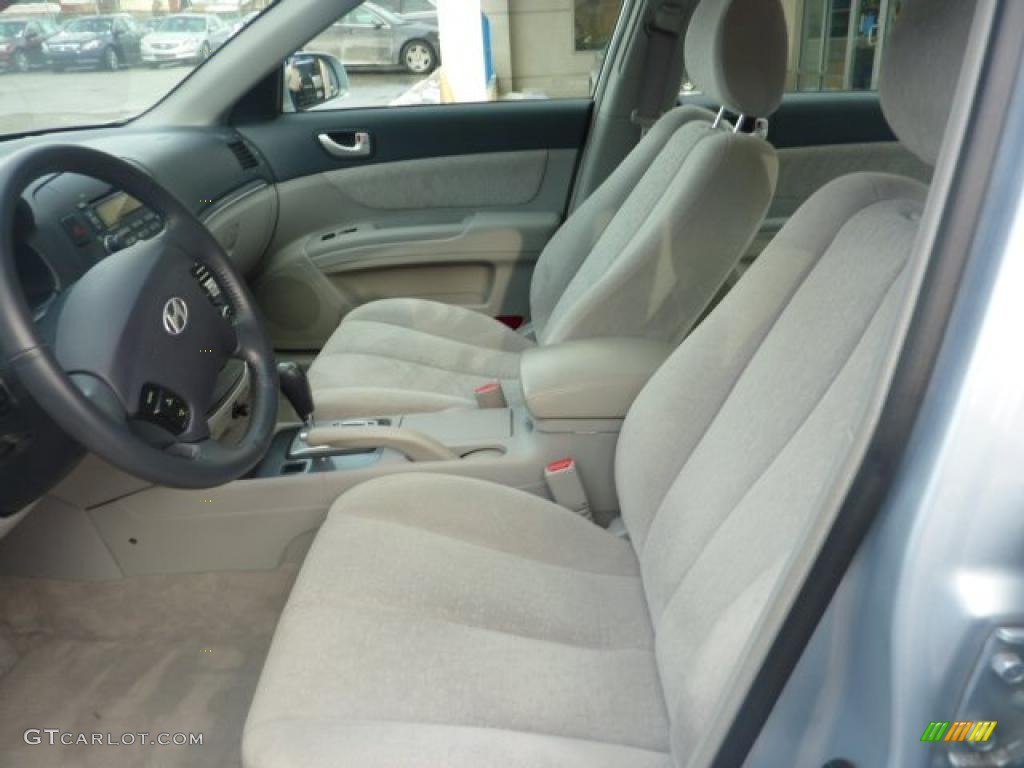 Beige Interior 2007 Hyundai Sonata Se V6 Photo 41526809