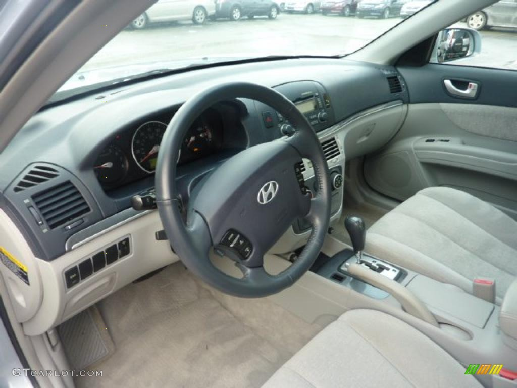 Beige Interior 2007 Hyundai Sonata Se V6 Photo 41526943
