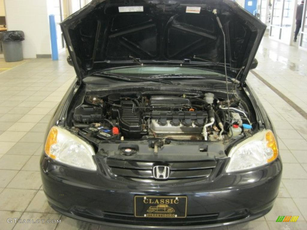 2002 honda civic ex sedan 1 7 liter sohc 16 valve 4 cylinder engine photo 41538496. Black Bedroom Furniture Sets. Home Design Ideas