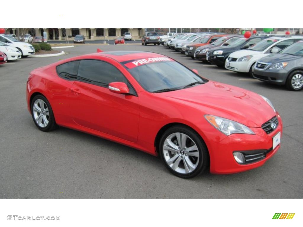 Tsukuba Red 2010 Hyundai Genesis Coupe 3 8 Grand Touring Exterior Photo 41555438 Gtcarlot Com