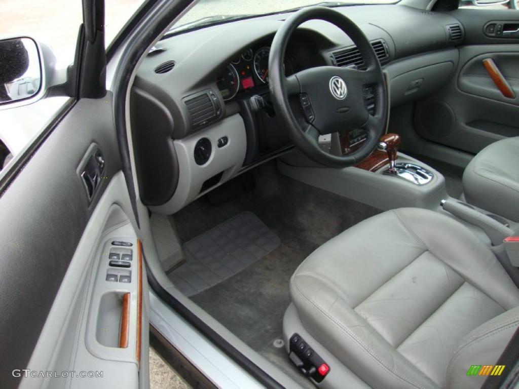 Gray interior 2001 volkswagen passat glx sedan photo 41555530 for Volkswagen passat 2000 interior