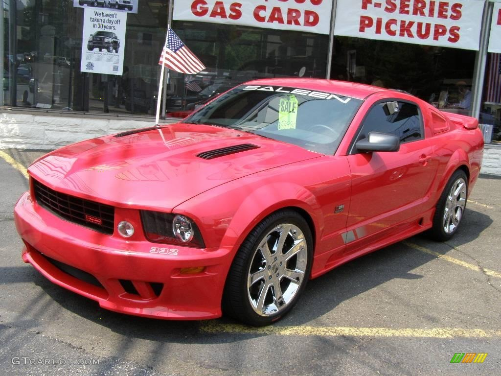 2007 Mustang Saleen S281 Supercharged Coupe - Torch Red / Black Leather photo #1