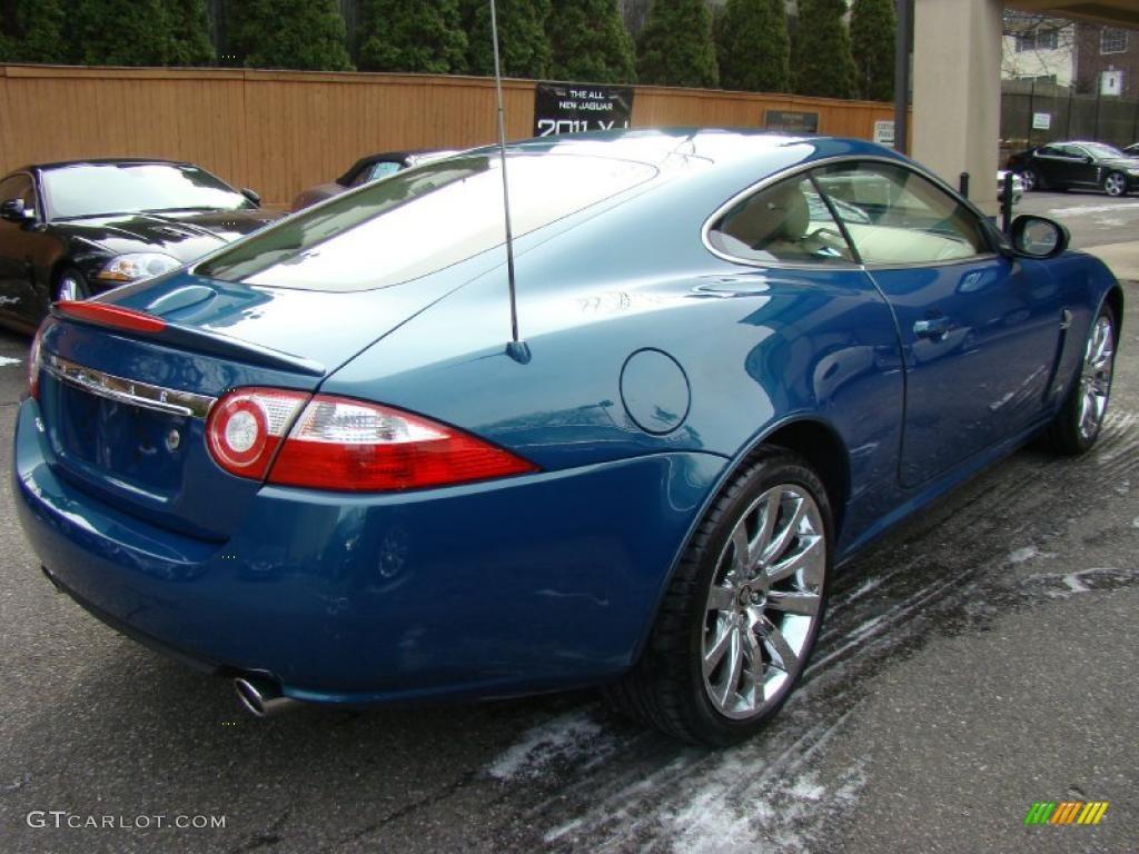 Prism Car: 2007 Blue Prism Pearl Jaguar XK XK8 Coupe #41533781 Photo