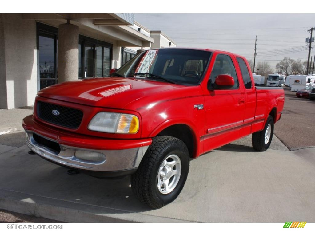 bright red 1997 ford f150 xlt extended cab 4x4 exterior. Black Bedroom Furniture Sets. Home Design Ideas