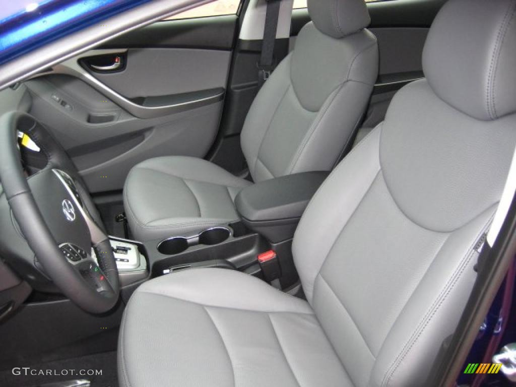 Gray Interior 2011 Hyundai Elantra Limited Photo 41605877