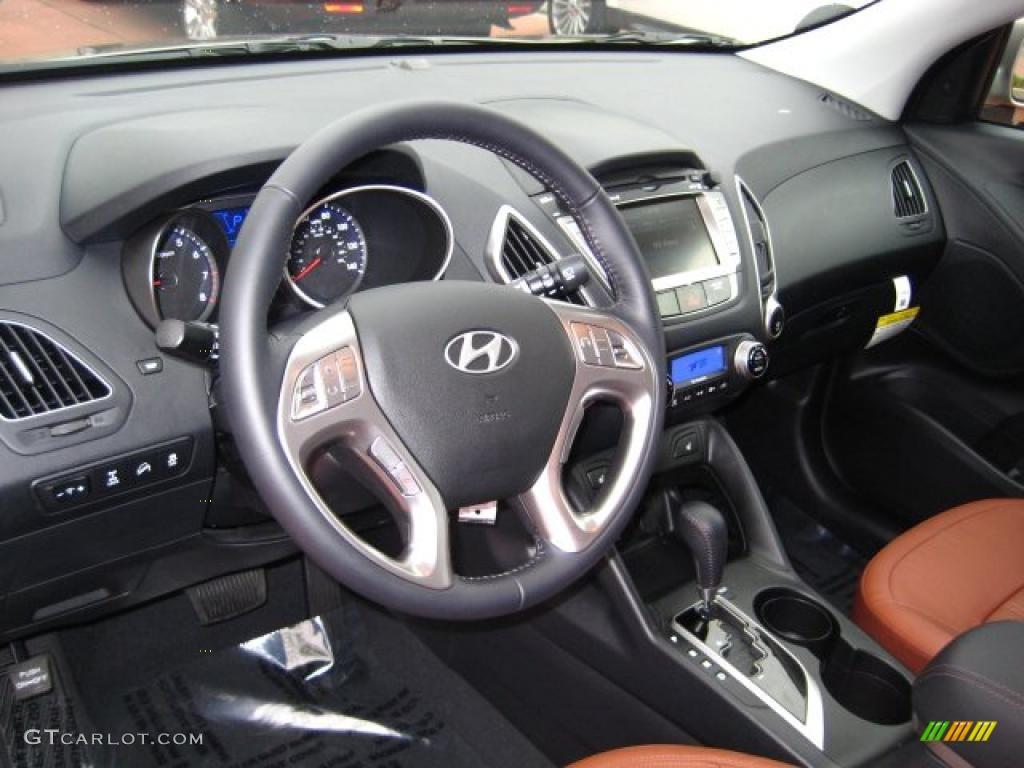Black Saddle Interior 2011 Hyundai Tucson Limited Awd Photo 41606145