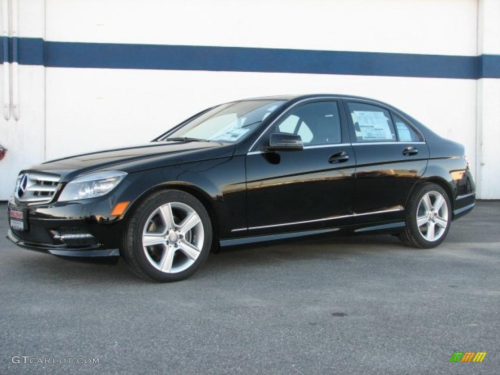 black 2011 mercedes benz c 300 sport 4matic exterior photo