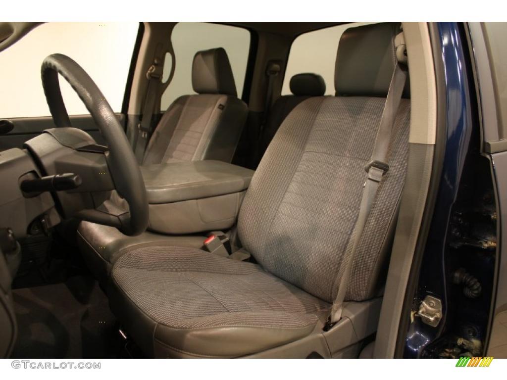 2008 Ram 1500 ST Quad Cab 4x4 - Patriot Blue Pearl / Medium Slate Gray photo #6
