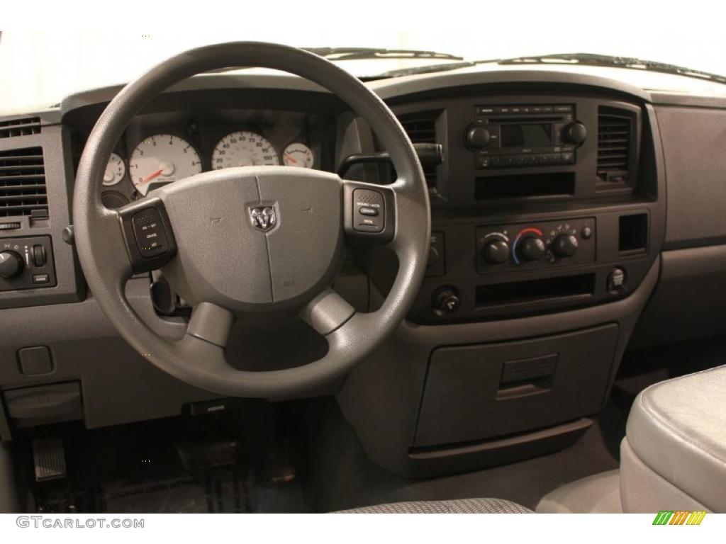 2008 Ram 1500 ST Quad Cab 4x4 - Patriot Blue Pearl / Medium Slate Gray photo #7