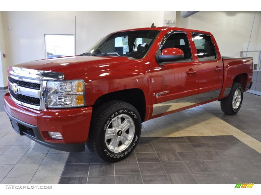 2008 silverado 1500 ltz crew cab 4x4 victory red ebony photo 1