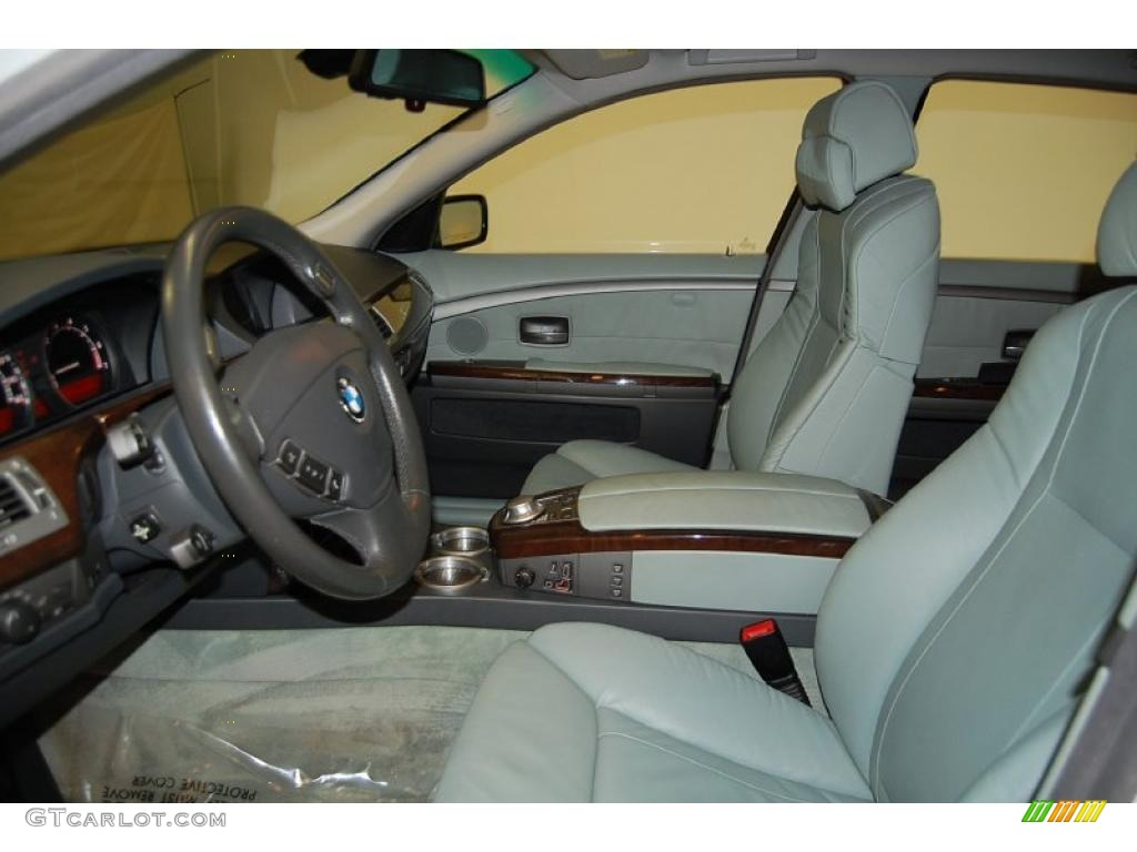 Basalt Grey Stone Green Interior 2004 BMW 7 Series 745Li Sedan Photo 41687361