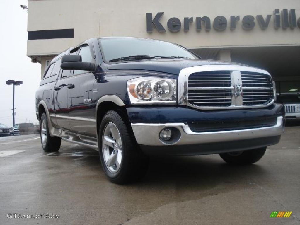 2008 Ram 1500 Big Horn Edition Quad Cab 4x4 - Patriot Blue Pearl / Medium Slate Gray photo #1