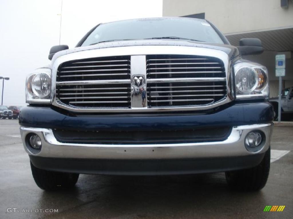 2008 Ram 1500 Big Horn Edition Quad Cab 4x4 - Patriot Blue Pearl / Medium Slate Gray photo #8