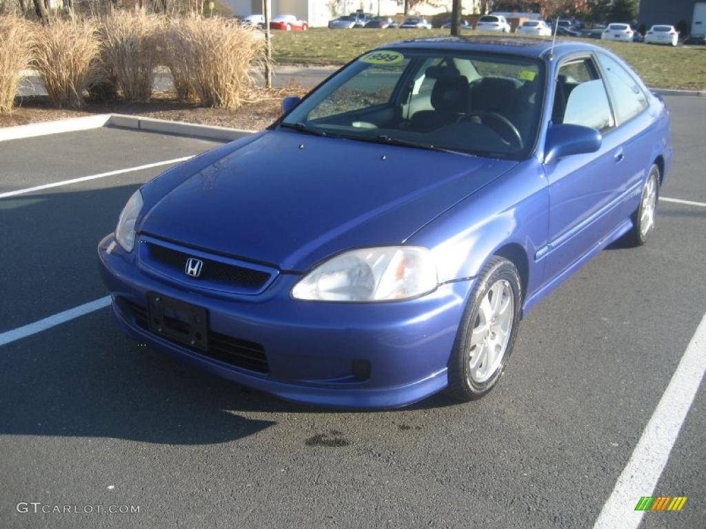 1999 electron blue pearl honda civic si coupe 41632024 car color galleries. Black Bedroom Furniture Sets. Home Design Ideas