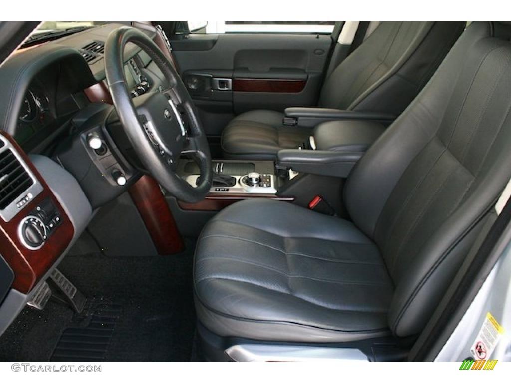 Jet Black Interior 2007 Land Rover Range Rover Supercharged Photo 41765929