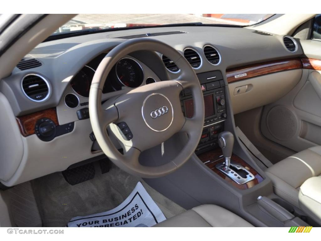 Beige Interior 2006 Audi A4 3.0 Quattro Cabriolet Photo #41769825