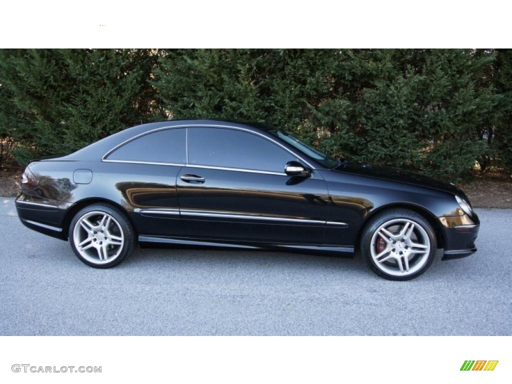 black 2003 mercedes benz clk 500 coupe exterior photo