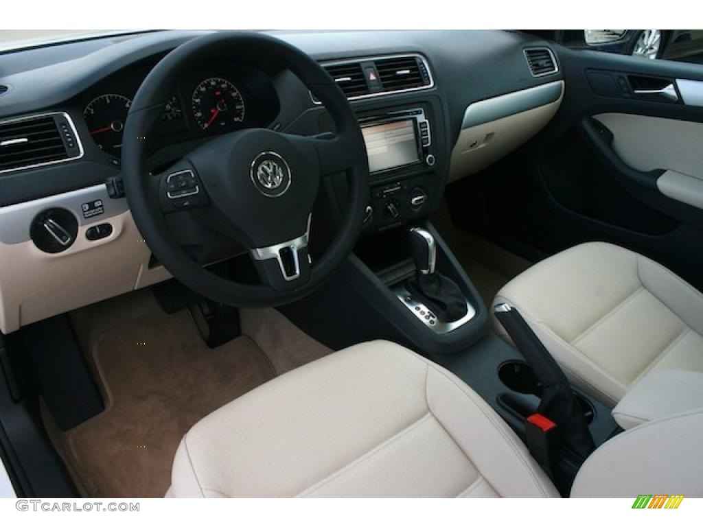 Cornsilk Beige Interior 2011 Volkswagen Jetta Tdi Sedan Photo 41787745