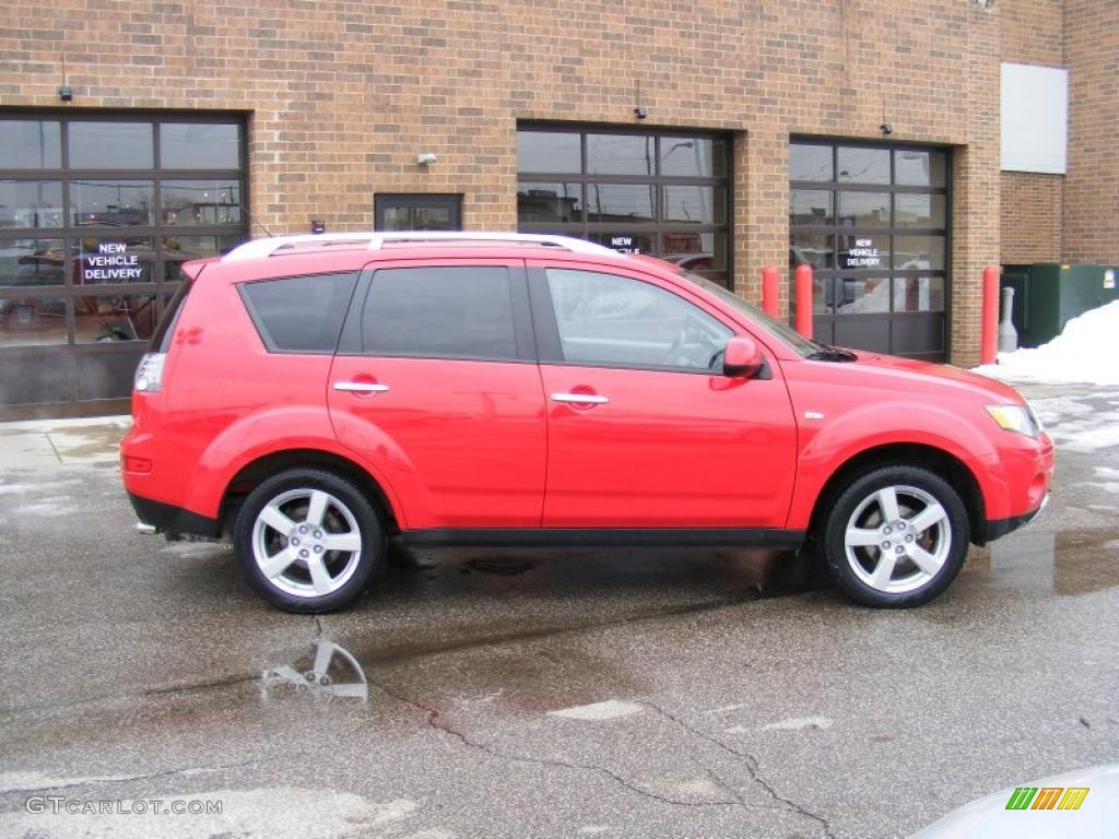 phoenix red 2007 mitsubishi outlander xls exterior photo. Black Bedroom Furniture Sets. Home Design Ideas