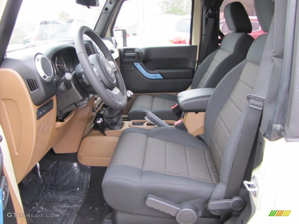 Black Dark Saddle Interior 2011 Jeep Wrangler Rubicon 4x4 Photo 41824438