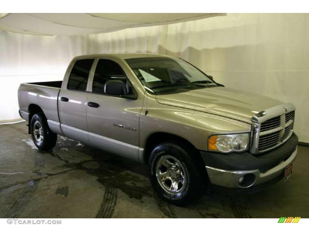 2002 Ram 1500 SLT Quad Cab - Light Almond Pearl / Dark Slate Gray photo #1