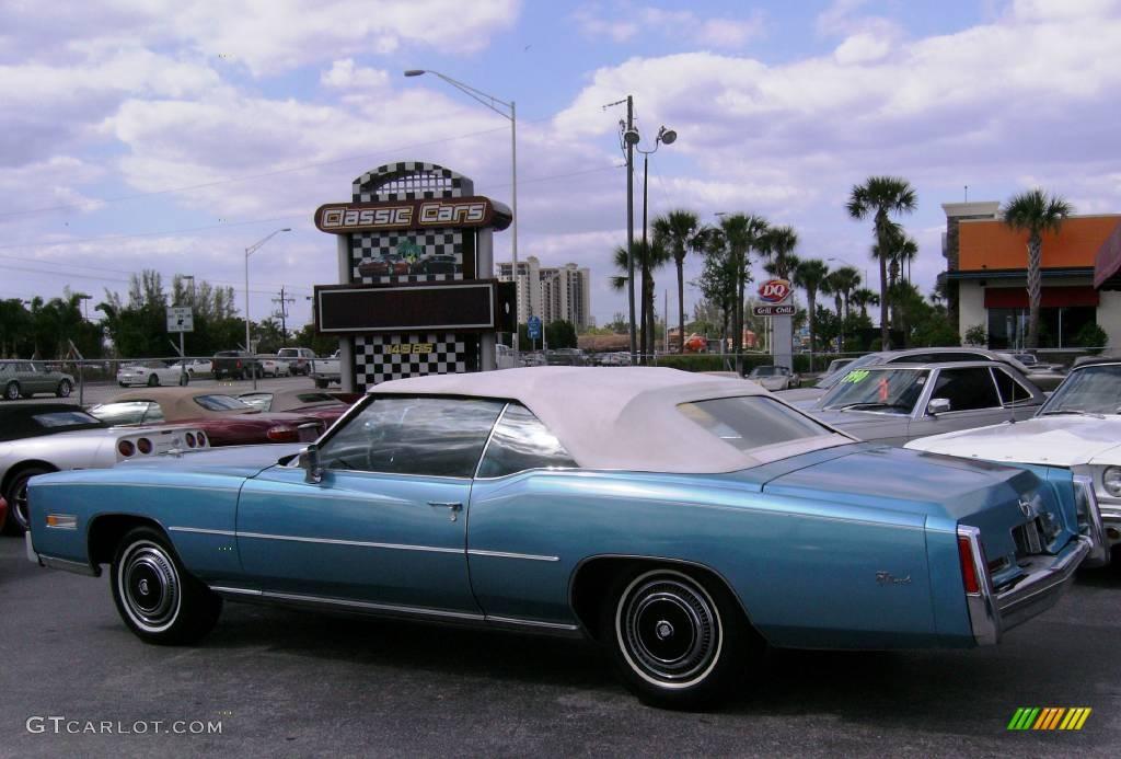 1976 Blue Cadillac Eldorado Convertible 392099 Car Color Galleries