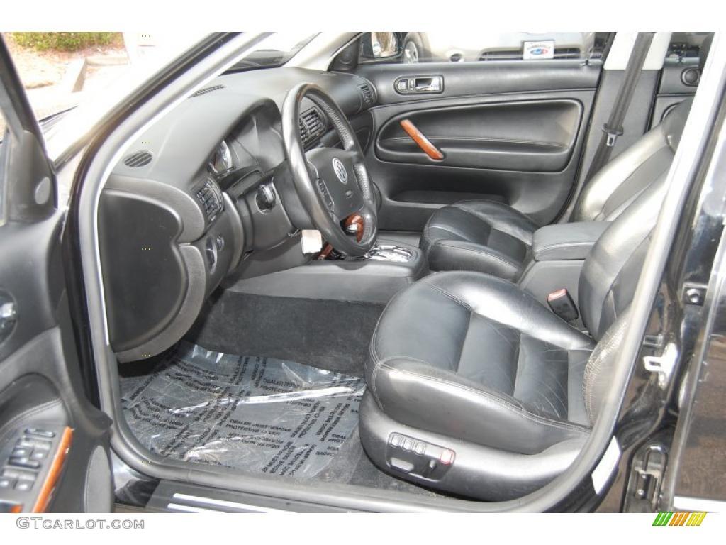 Black Interior 2002 Volkswagen Passat Glx 4motion Wagon Photo 41866716