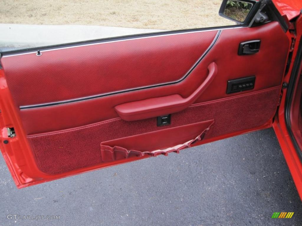 1986 Ford Mustang Gt Convertible Red Door Panel Photo 41873070 Gtcarlot Com