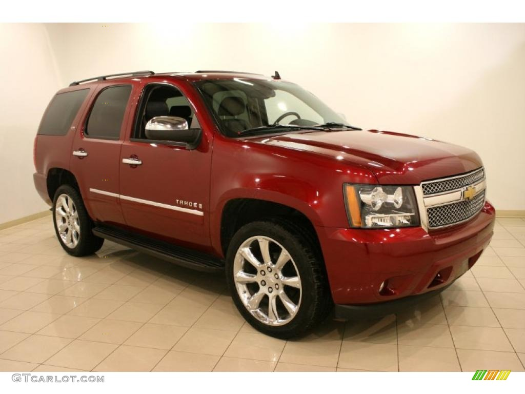 deep ruby red metallic 2009 chevrolet tahoe ltz 4x4 exterior photo 41881398. Black Bedroom Furniture Sets. Home Design Ideas