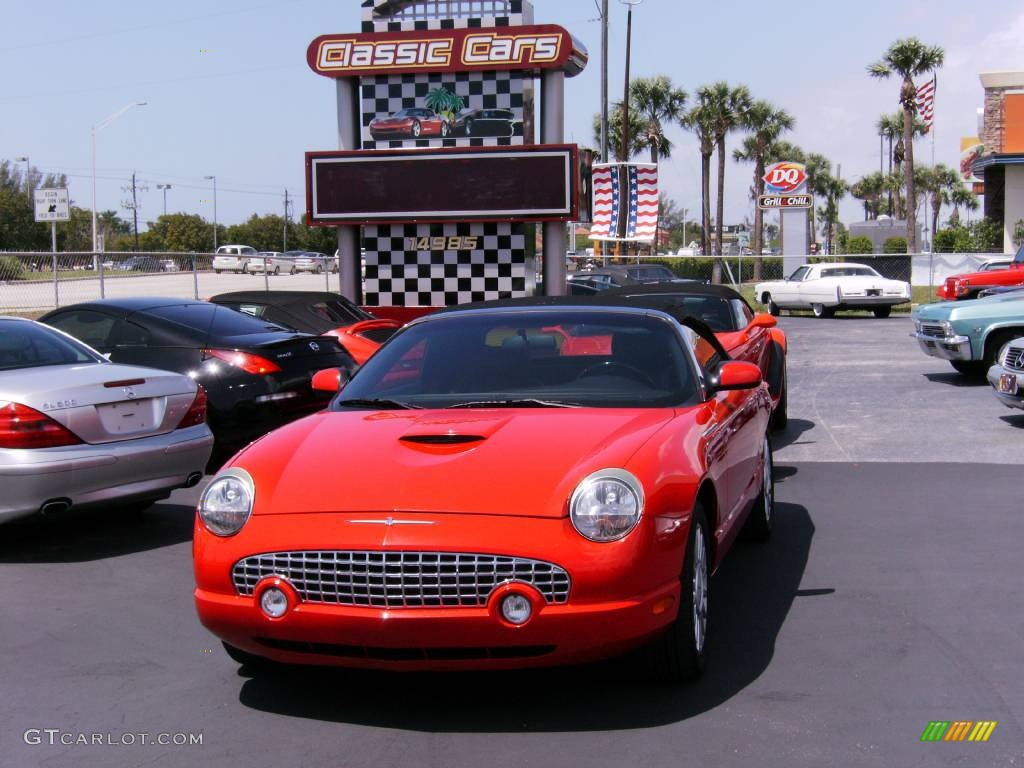 2005 torch red ford thunderbird premium roadster 392092 2005 thunderbird premium roadster torch red black ink photo 1 sciox Image collections