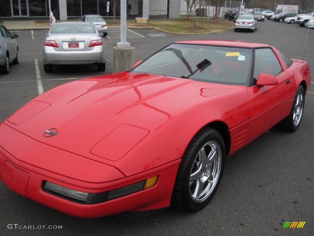 1992 Bright Red Chevrolet Corvette Coupe #41866143