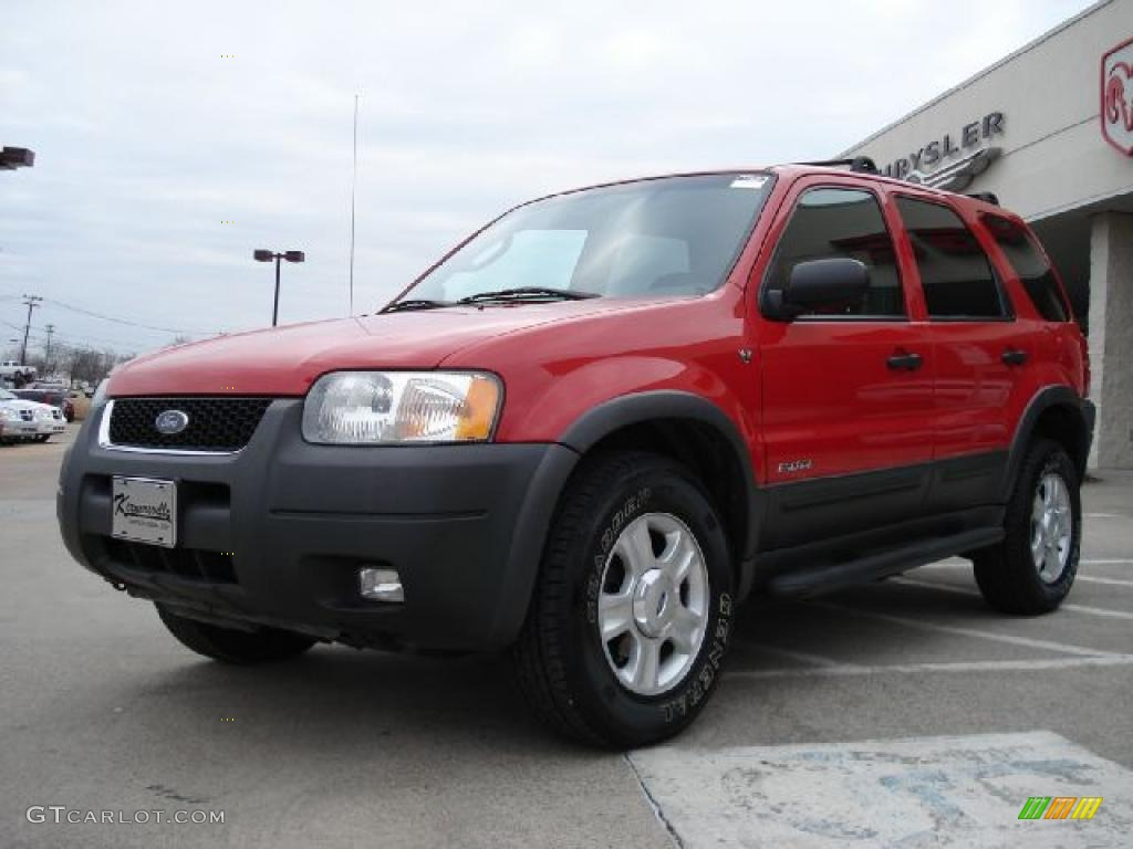 bright red 2002 ford escape xlt v6 exterior photo. Black Bedroom Furniture Sets. Home Design Ideas