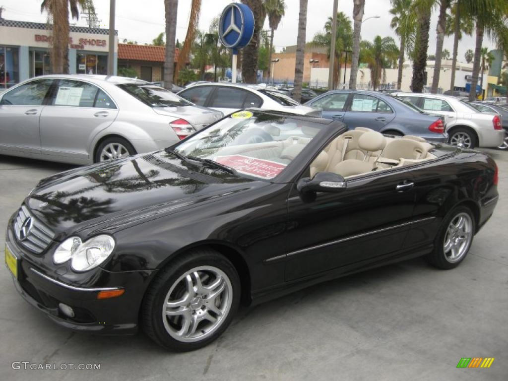 Mocha black metallic 2004 mercedes benz clk 500 cabriolet for 2004 mercedes benz clk 500