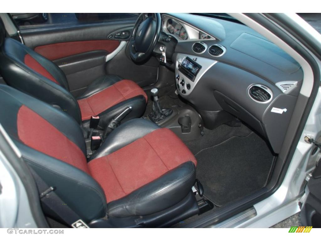 2002 ford focus svt coupe black red dashboard photo 41955432