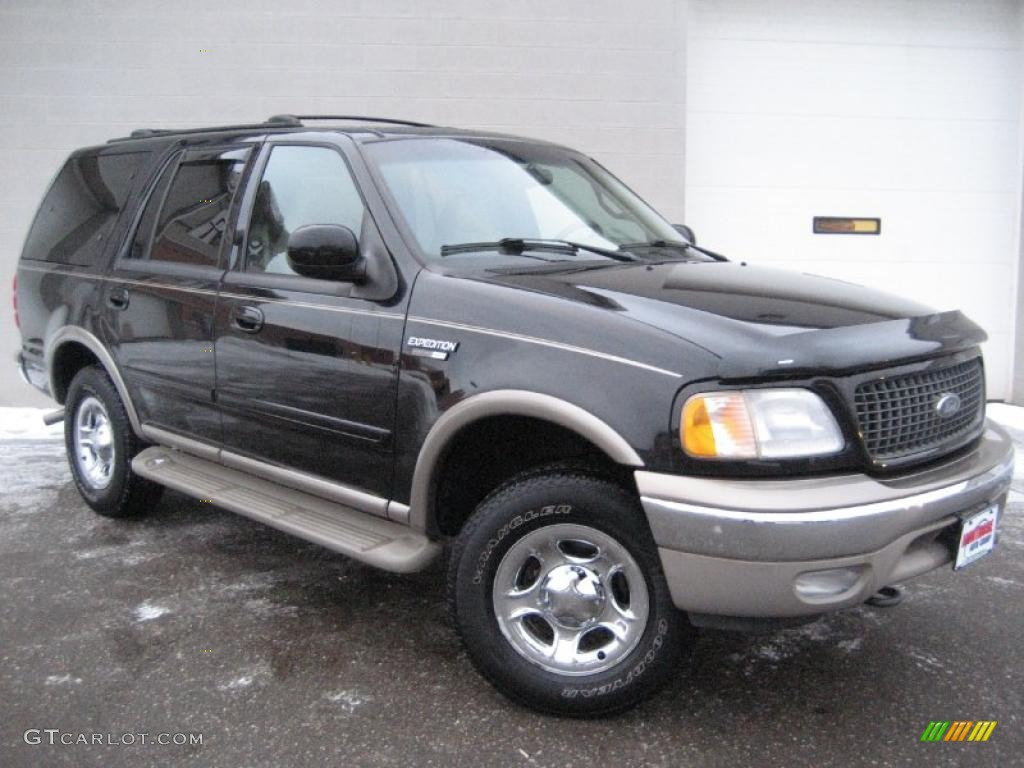 2001 black clearcoat ford expedition eddie bauer 4x4 41934436 photo 2 car. Black Bedroom Furniture Sets. Home Design Ideas