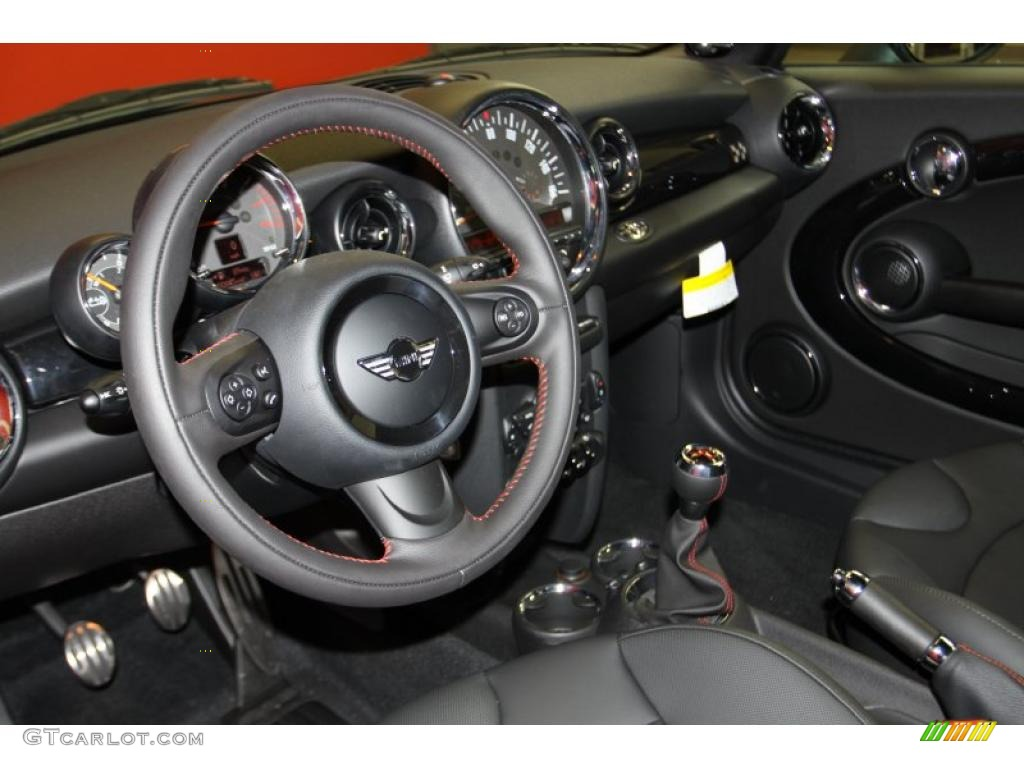 Carbon Black Interior 2011 Mini Cooper John Cooper Works Convertible Photo 41969485