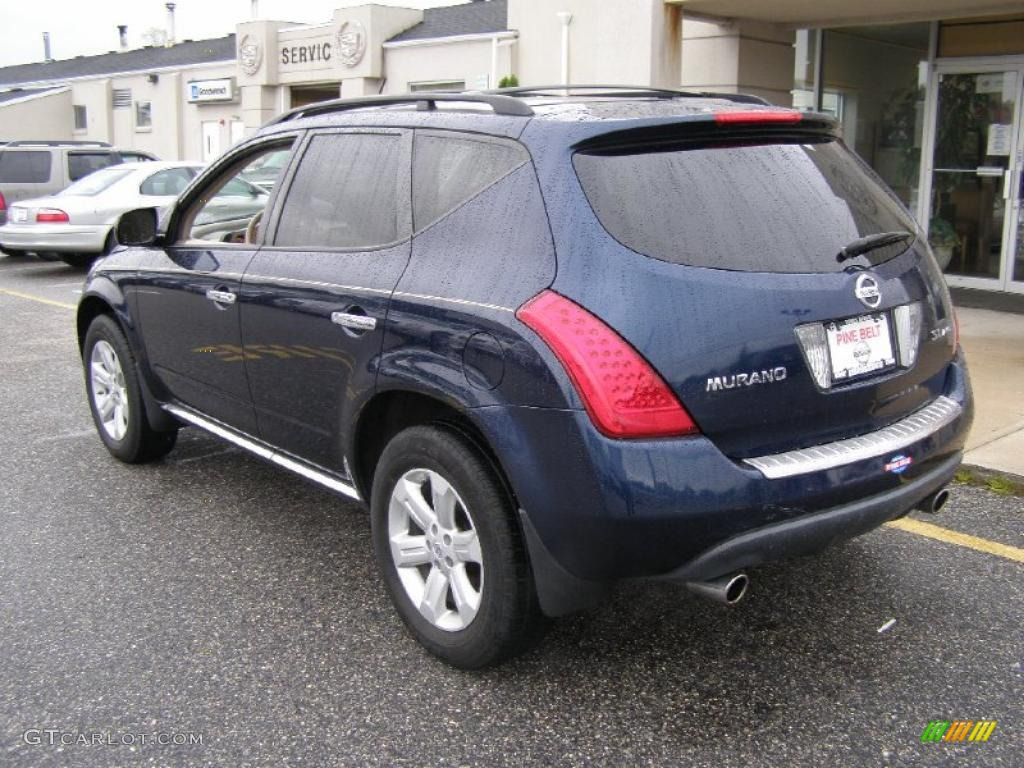 2007 Murano SL AWD - Midnight Blue Pearl / Cafe Latte photo #5