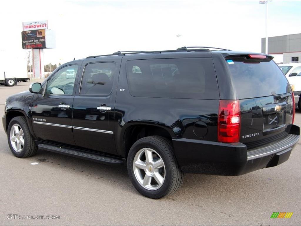 Black 2010 chevrolet suburban ltz 4x4 exterior photo 42076971