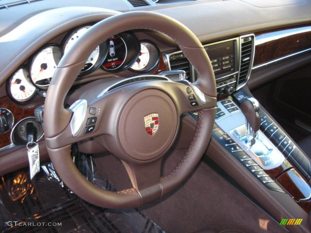 espresso natural leather interior 2011 porsche panamera s photo 42086219. Black Bedroom Furniture Sets. Home Design Ideas
