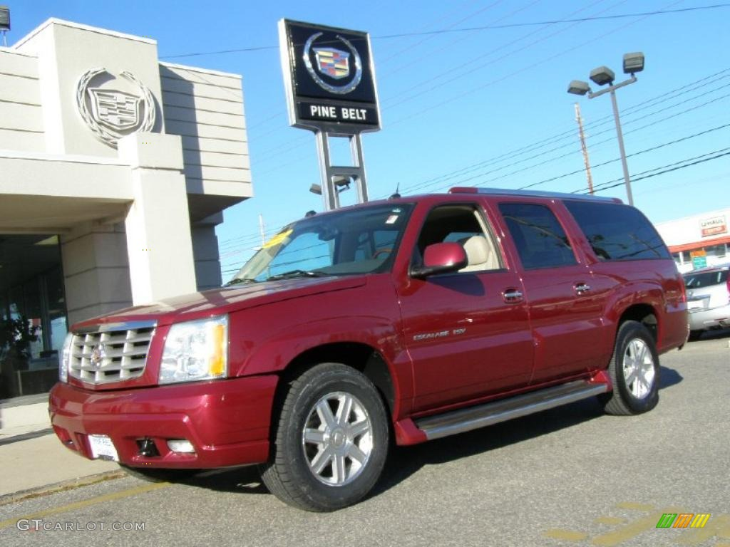 2004 escalade esv awd red e shale photo 1