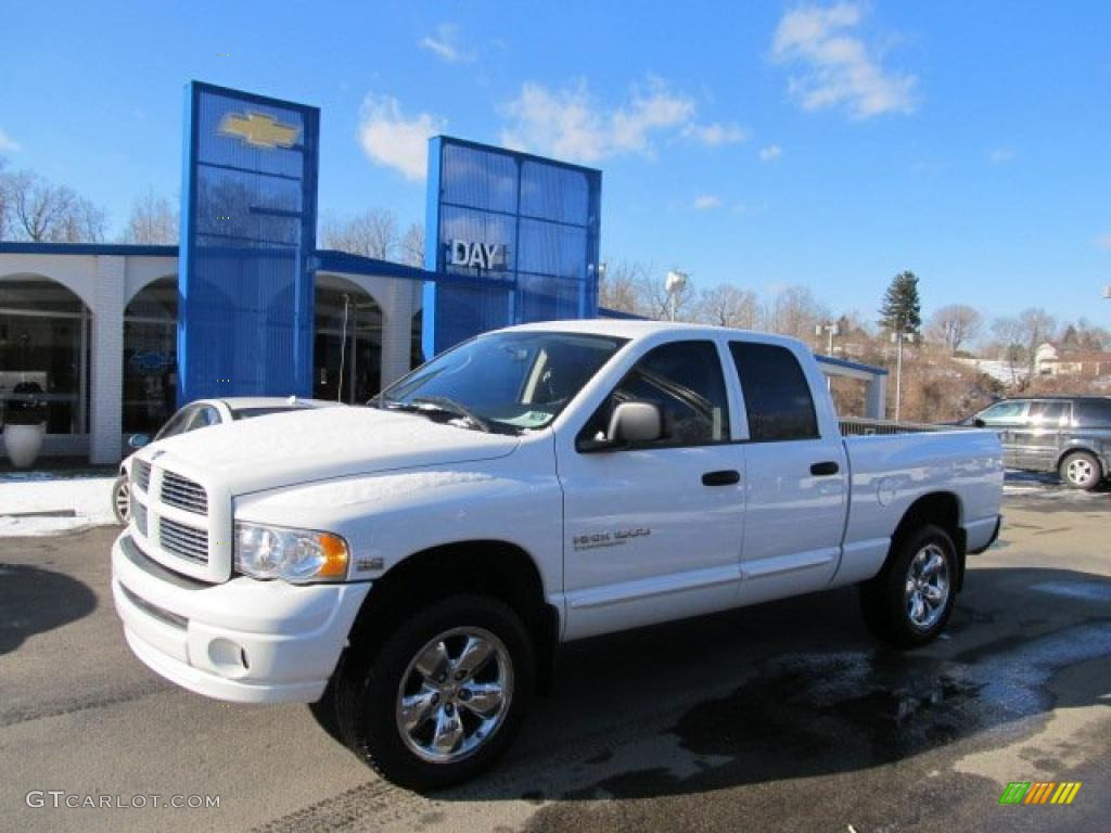 2005 bright white dodge ram 1500 thunder road quad cab 4x4. Black Bedroom Furniture Sets. Home Design Ideas