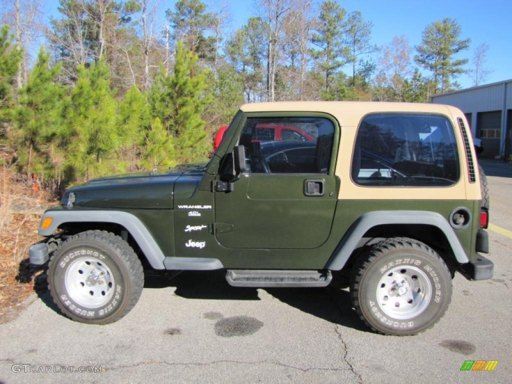 Moss Green Pearl 1997 Jeep Wrangler Sport 4x4 Exterior